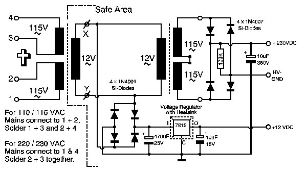 nix_psu1 Nixie Tube Power Supply Schematic on